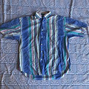 VINTAGE IZOD Striped Button Up